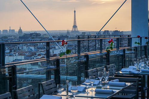 Paris Skyline from Pompidou Centre Rooftop Restaurant