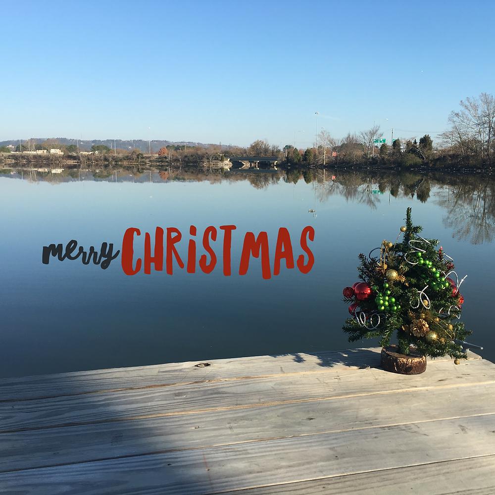 Christmas Tree on the Pier