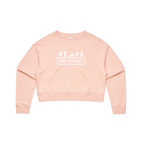 AS COLOUR CROP SWEATER PALE PINK