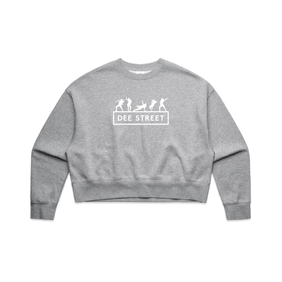 AS COLOUR OVERSIZED SWEATER GREY MARLE