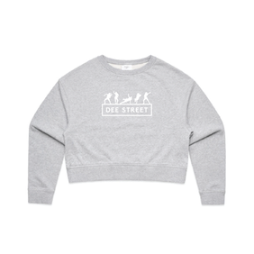 AS COLOUR CROP SWEATER GREY MARLE