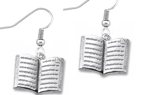 Book Charm Earrings