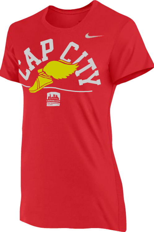 CC: Women's Nike Tech Tee - Winged Cap City
