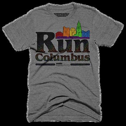 Run Columbus With Pride Vintage Tee