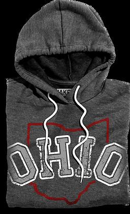 Arched Ohio Hooded Fleece