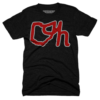 Outlined Ohio OH Tee Shirt
