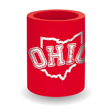 Arched Ohio Thick Can Cooler (Red)