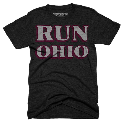 Run Ohio Black Tee Shirt (Original)