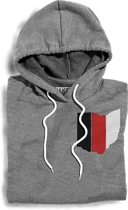 Striped Ohio Hooded Fleece