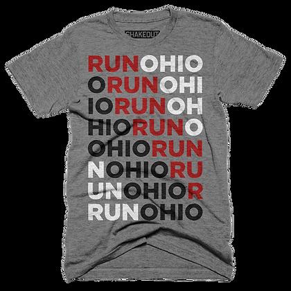 Run Ohio Multi-Colored Grey Tee Shirt