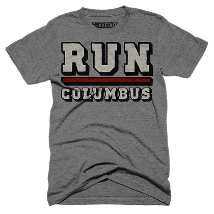 Run Columbus Lined Tee Shirt (Original)