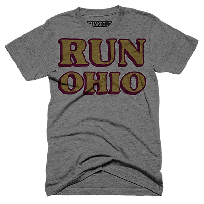 Run Ohio Grey Tee Shirt (Original)