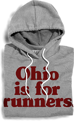 Ohio Is For Runners Hooded Fleece