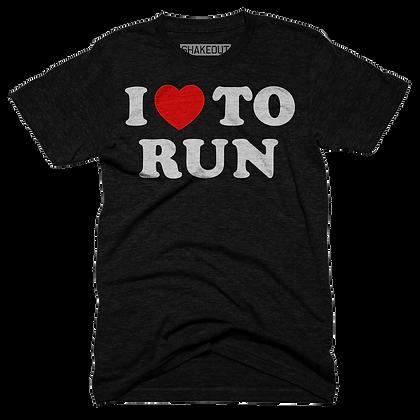 I Heart To Run Tee Shirt (Original)