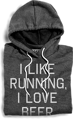 I Like Running, I Love Beer Hooded Fleece