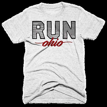 Retro Run Ohio Tee  (Red/Grey)
