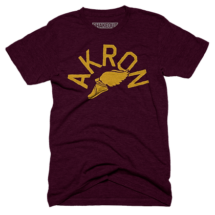 Winged Akron Tee Shirt (Original)