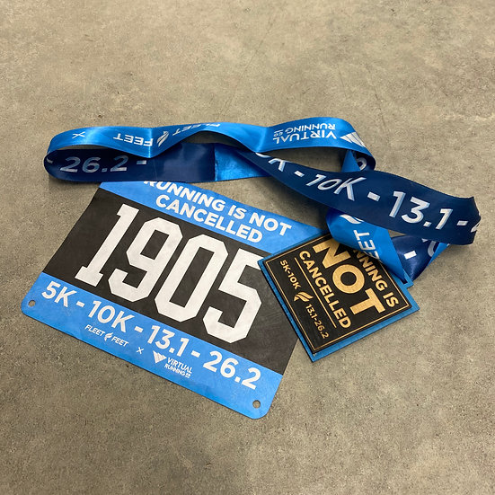VRC: Running Is NOT Cancelled Medal + Bib