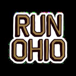 Run Ohio Large Decal