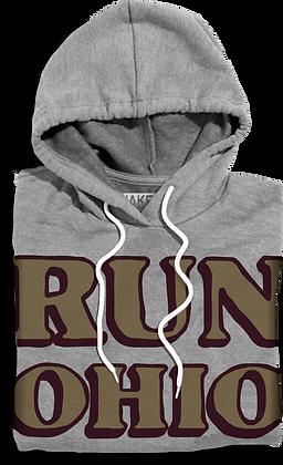 Run Ohio Hooded Fleece (Grey)