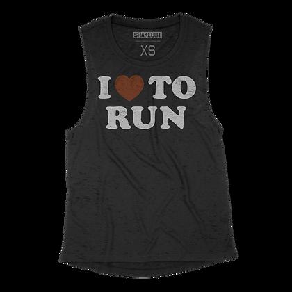 I Heart To Run Womens Tank