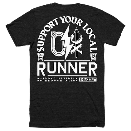 Support Your Local Runner Black Tee Shirt