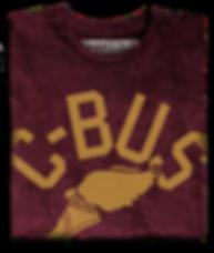 Winged Cbus Tee shirt (Wine).png