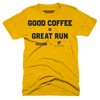 Good Coffee = Great Run Tee Shirt