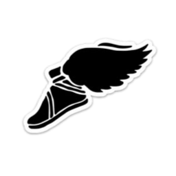 Winged Foot Small Decal