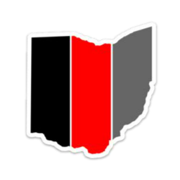 Striped Ohio Large Decal