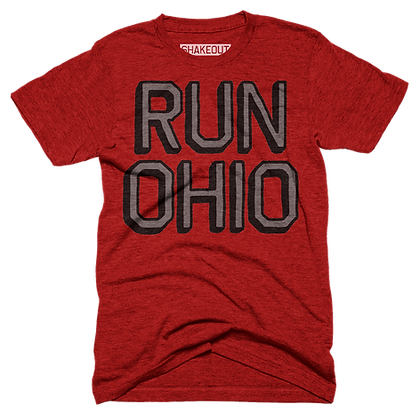 Run Ohio Red Tee Shirt