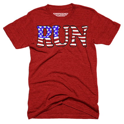 Run American Flag Tee Shirt