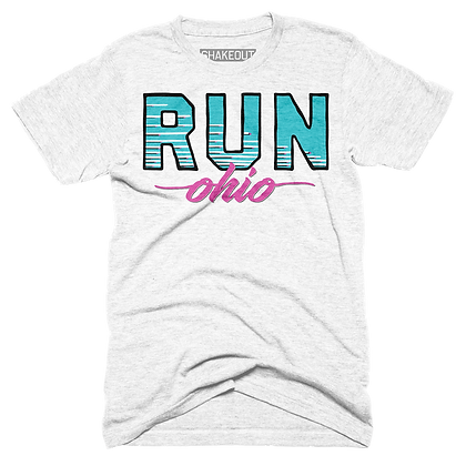 Retro Run Ohio Tee Shirt