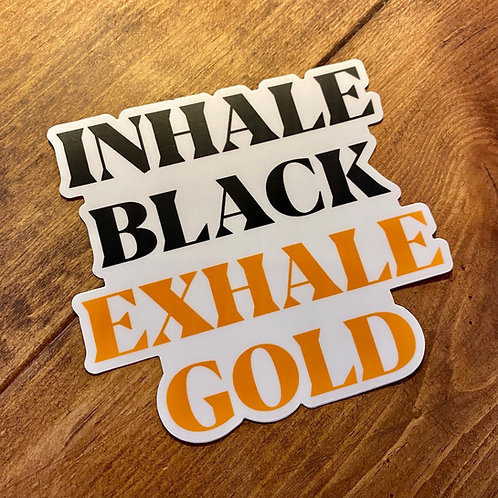 INHALE EXHALE DECAL - FOUR INCH