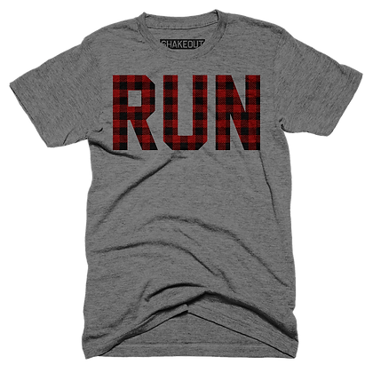 Plaid Run Tee Shirt (Original)