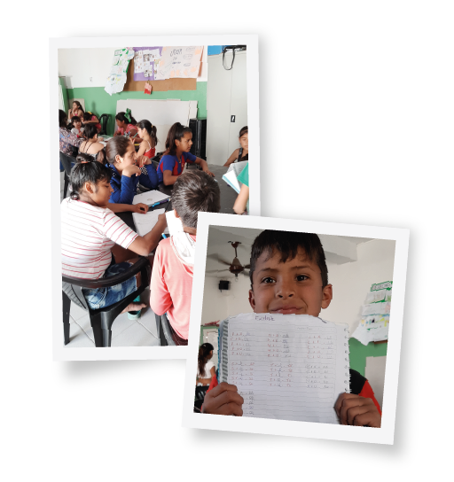 Fotos de niños  estudiando