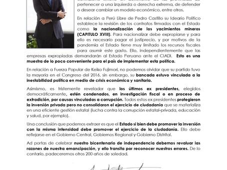 ELECCIONES PRESIDENCIALES 2021: 200 AÑOS DE SOLEDAD