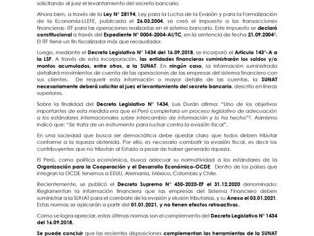 LA SUNAT Y SU FACULTAD DE REVISAR LAS CUENTAS BANCARIAS