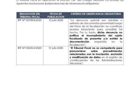 RTF DE OBSERVANCIA OBLIGATORIA EMITIDAS EN JULIO