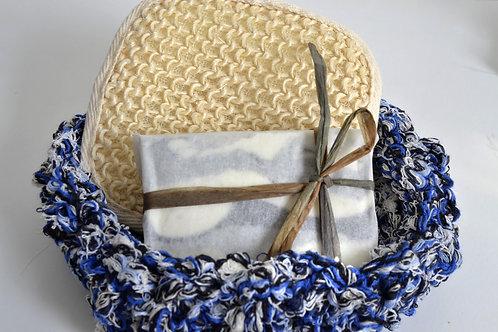Basket+soap+loofah