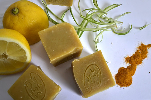 Lemon and Turmeric Shampoo Bar