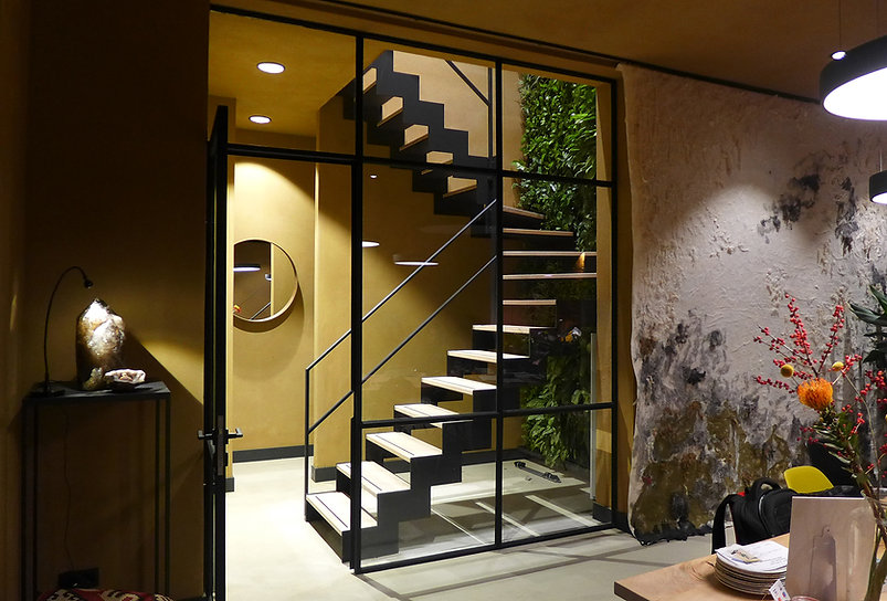 Bloemendaal office studio transformation, staircase, Studio C