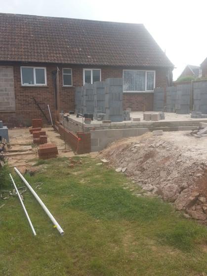Progress of Patio Renovation