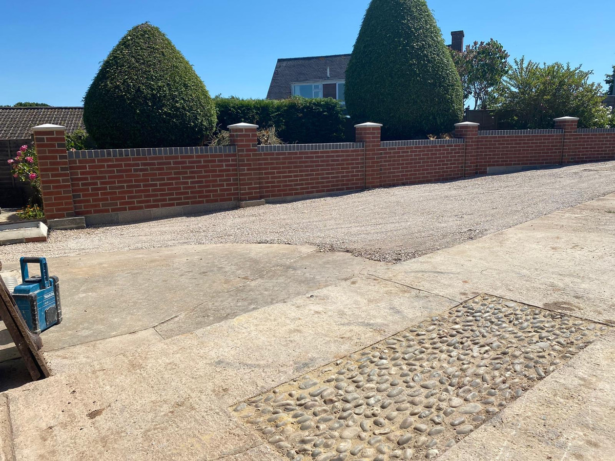 Front Driveway Wall - After