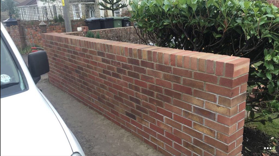 Simple Front Garden Wall