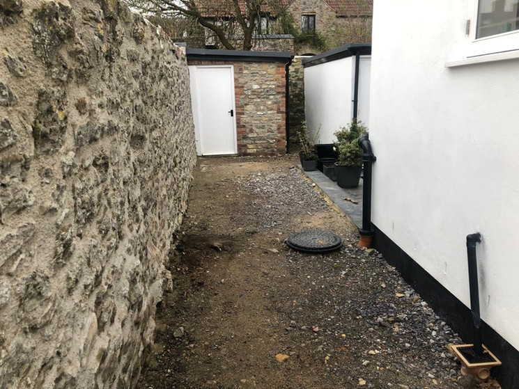 Gravelled Pathway - Before