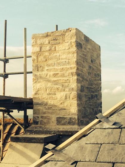 Grey Stone Chimney