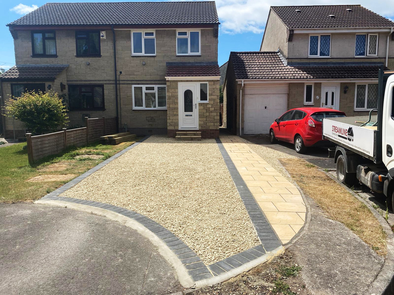 Finished Driveway - Front View