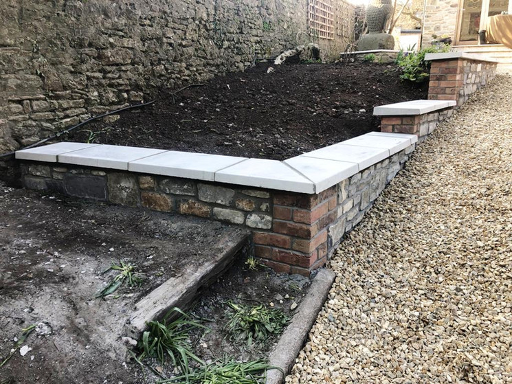 Bricked Planters - `After
