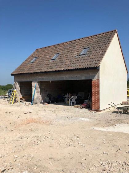 Stonework Garage New Build in Progress